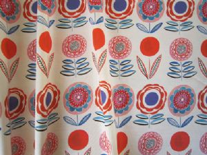 Lollipops White 68cms- Large-Fabric for Curtains and Blinds